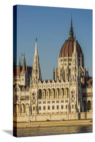 Pest, the Hungarian Parliament Building-Massimo Borchi-Stretched Canvas Print