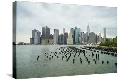 Lower Manhattan Skyline, New York City-Fraser Hall-Stretched Canvas Print