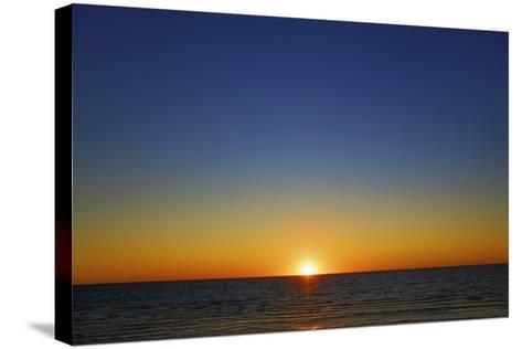 Sunset Impression at Ocean-Frank Krahmer-Stretched Canvas Print