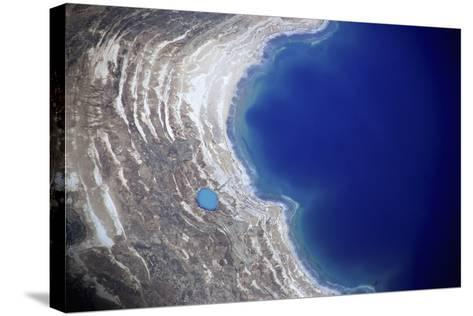 Dead Sea from Above.-Stefano Amantini-Stretched Canvas Print