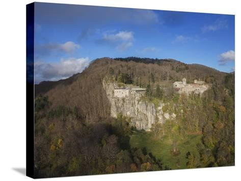 Air View of La Verna Hermitage-Guido Cozzi-Stretched Canvas Print