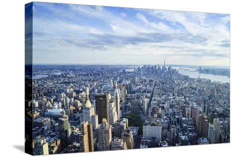 Manhattan Skyline from Above, New York City-Fraser Hall-Stretched Canvas Print