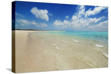 Tropical Lagoon Sandy Bay-Frank Krahmer-Stretched Canvas Print