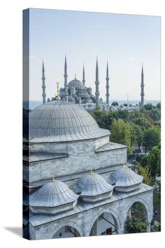 Firuz Aga Mosque and Sultan Ahamet Camii (Blue Mosque)-Guido Cozzi-Stretched Canvas Print