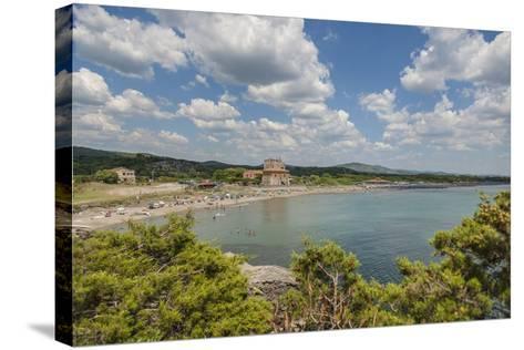 The Beach near 'Tagliata Etrusca', Ansedonia-Guido Cozzi-Stretched Canvas Print