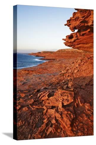 Cliff Landscape at Eagle Gorge-Frank Krahmer-Stretched Canvas Print