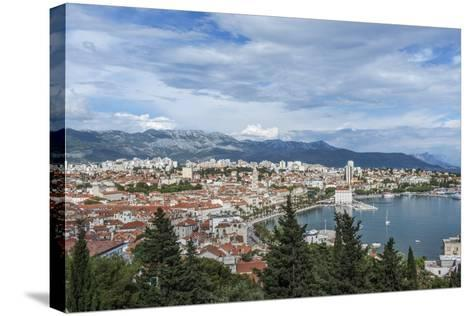 Split Harbor and Old Town-Rob Tilley-Stretched Canvas Print