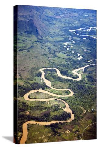 Meandering Wamena River, Baliem Valley, West Papua, Indonesia-Reinhard Dirscherl-Stretched Canvas Print