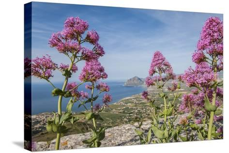 View of Golfo Di Bonagia from Erice-Guido Cozzi-Stretched Canvas Print