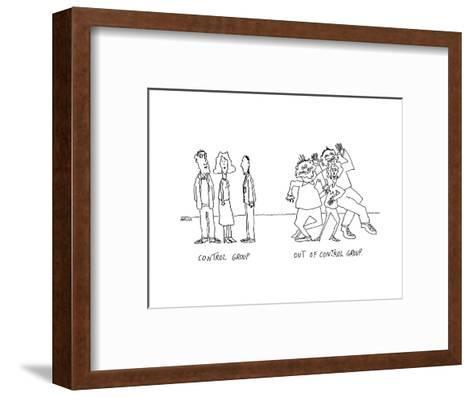 Control Group.  Out of Control Group. - Cartoon-Peter Mueller-Framed Art Print