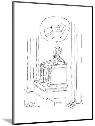 New Yorker Cartoon-Arnie Levin-Mounted Premium Giclee Print