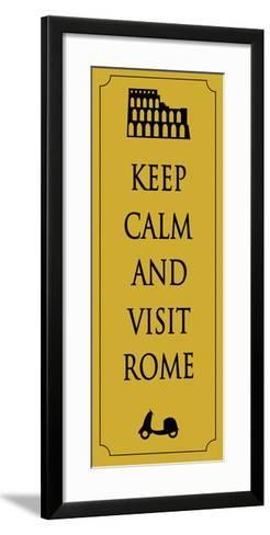 Rome Travel Card.Vector-Ladoga-Framed Art Print