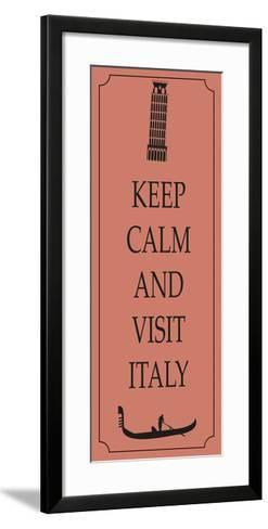 Italy Travel Card-Ladoga-Framed Art Print