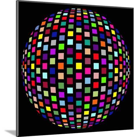 Colorful Party Light on Black Background-anasztazia-Mounted Art Print
