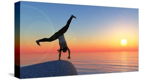 Exercise and Sunset-juanjo tugores-Stretched Canvas Print