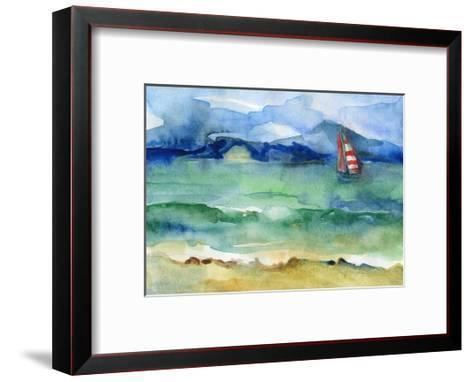 Water and Sail-brightening-Framed Art Print