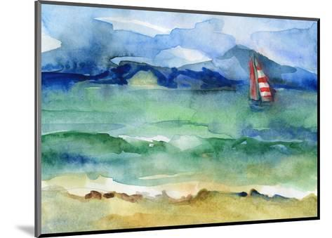 Water and Sail-brightening-Mounted Art Print