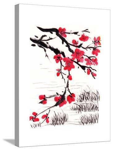 Chinese Painting Blossom-jim80-Stretched Canvas Print