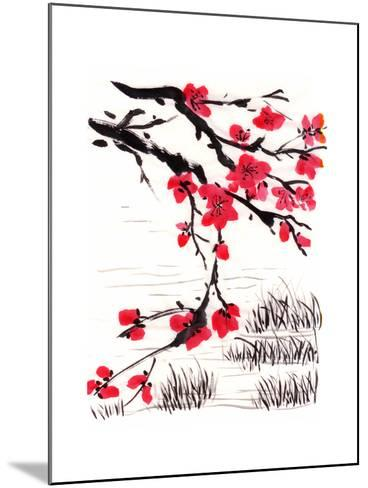 Chinese Painting Blossom-jim80-Mounted Art Print