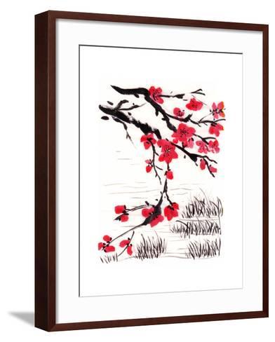 Chinese Painting Blossom-jim80-Framed Art Print