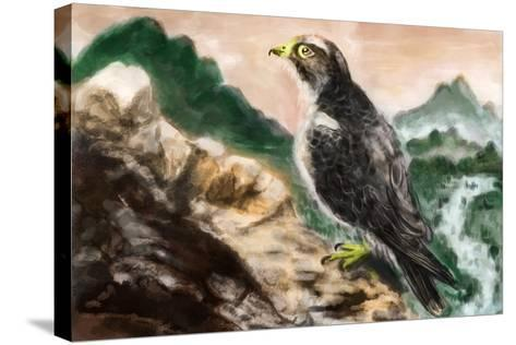 Cg Painting Bird-jim80-Stretched Canvas Print