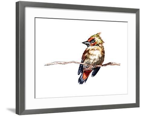 Hand Draw Bird-jim80-Framed Art Print