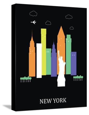 New York City. Vector-Ladoga-Stretched Canvas Print