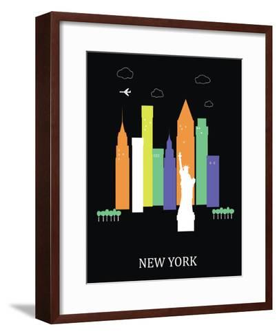 New York City. Vector-Ladoga-Framed Art Print