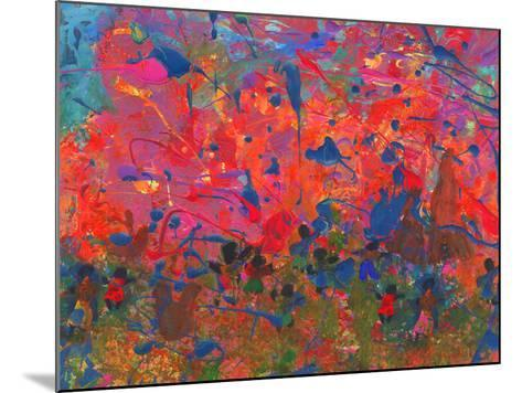 Child's Painting - Abstract Spots-Alexey Kuznetsov-Mounted Art Print