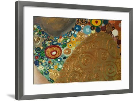 Original Abstract Painting,Oil on Canvas-ralwel-Framed Art Print