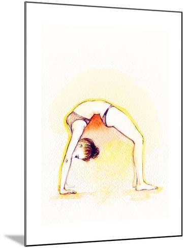 Yoga Position. Watercolor Illustration-Anna Ismagilova-Mounted Art Print
