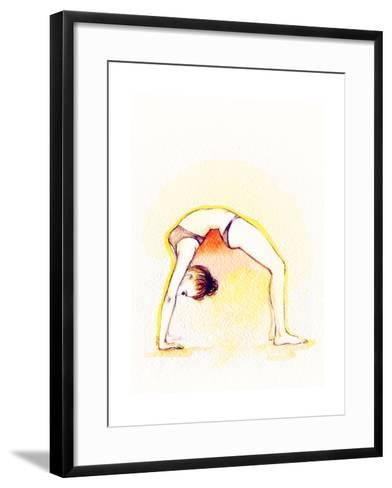 Yoga Position. Watercolor Illustration-Anna Ismagilova-Framed Art Print