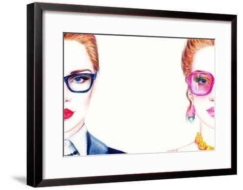 Woman in Glasses-Anna Ismagilova-Framed Art Print