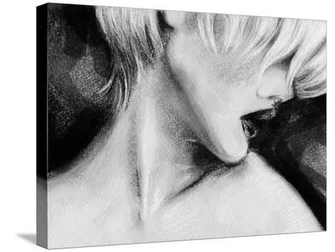 Beautiful Woman Face . Hand Painted Fashion Illustration-Anna Ismagilova-Stretched Canvas Print