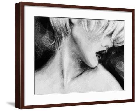 Beautiful Woman Face . Hand Painted Fashion Illustration-Anna Ismagilova-Framed Art Print