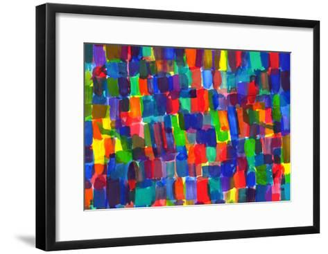 Child's Painting - Abstract Spots-Alexey Kuznetsov-Framed Art Print