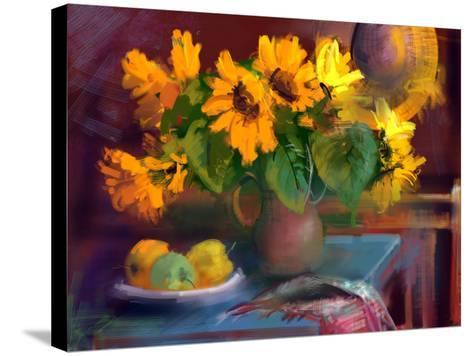 Sunflowers- yakymenko-Stretched Canvas Print