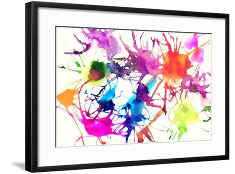 Abstract Watercolor Background-Anna Ismagilova-Framed Art Print