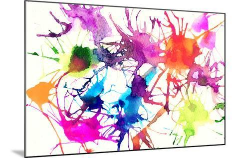 Abstract Watercolor Background-Anna Ismagilova-Mounted Art Print