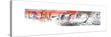 Panorama of Industrial Area-okalinichenko-Stretched Canvas Print