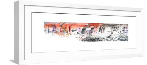 Panorama of Industrial Area-okalinichenko-Framed Art Print