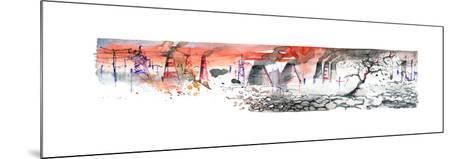 Panorama of Industrial Area-okalinichenko-Mounted Art Print