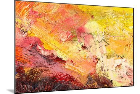 Abstract Painting Fragment-Suchota-Mounted Art Print