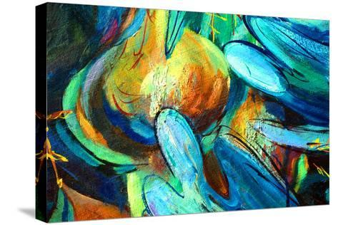 Angels , Painting by Oil on Canvas, Illustration-Mikhail Zahranichny-Stretched Canvas Print
