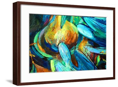 Angels , Painting by Oil on Canvas, Illustration-Mikhail Zahranichny-Framed Art Print