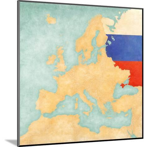 Map of Europe - Russia (Vintage Series)-Tindo-Mounted Art Print