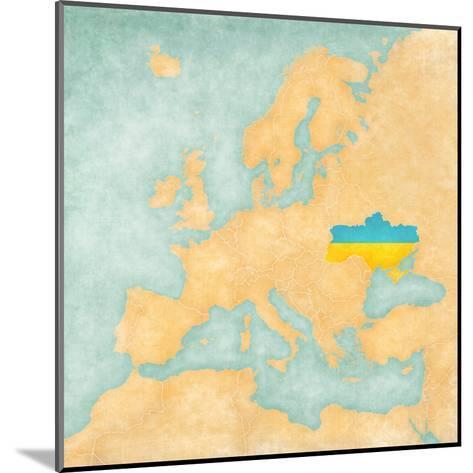 Map of Europe - Ukraine (Vintage Series)-Tindo-Mounted Art Print