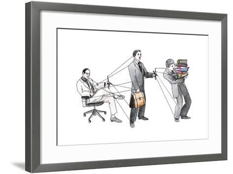 Marionette-okalinichenko-Framed Art Print