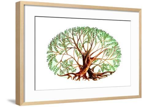 Couple of Trees-okalinichenko-Framed Art Print