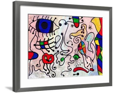 Colorful Abstract Art Painting by a Ten Years Old Child-Alexey Kuznetsov-Framed Art Print